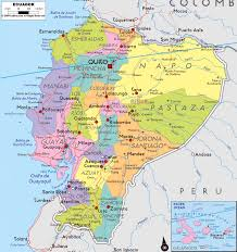 Map Of Equator Large Political And Administrative Map Of Ecuador With Roads