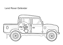 car land rover defender coloring page for kids printable free