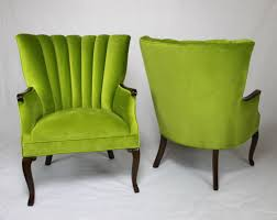 Home Decor Accent Chairs by Apple Green Channel Back Wing Back Chairs Vintage Chairs With New