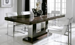 Contemporary White Dining Room Sets - contemporary dining table with elegant and classic impression