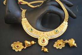 white stone gold necklace images Imitation multicolour and white stone studded long necklace set jpg