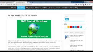 full version crack idm idm serial number latest 2017 free youtube