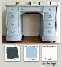 colorways with leslie stocker kneehole desk annie sloan chalk