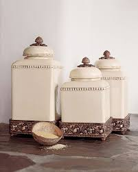 kitchen canister set ceramic decorative kitchen canisters and jars