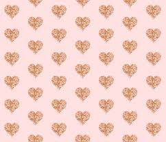 Gold Rose Rose Gold Glitter Hearts Blush Fabric Willowlanetextiles