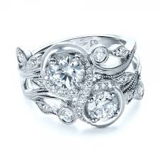 infinity engagement rings custom organic infinity diamond engagement ring 1383