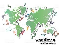 Realistic Map Of The World by Hand Drawn Realistic World Map Stock Vector Art 492317402 Istock