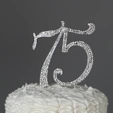 rhinestone number cake toppers 75 cake topper for 75th birthday or anniversary party