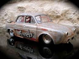 1958 renault dauphine renault dauphine drag strip a moteur vw prepare norev diecast