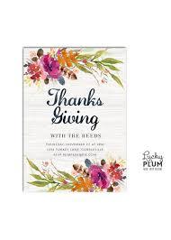 thanksgiving invitation friendsgiving invite potluck