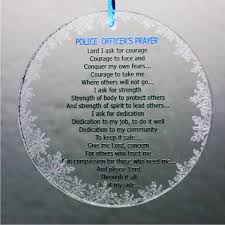 officer prayer snowflake ornament usa