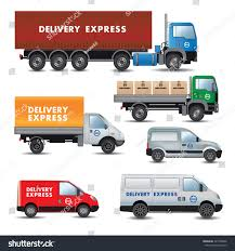 delivery express set delivery cars vector stock vector 227348446