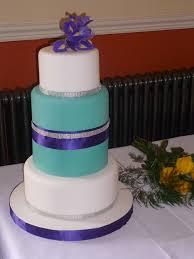 wedding cake purple turquoise elegant tiffany blue wedding cake