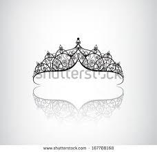 vector decorated vintage crown logo stock vector 167708168