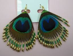 peacock feather earrings yhst 10052692008113 2268 5532008