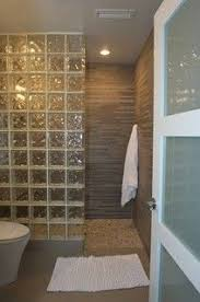 glass block bathroom ideas doorless shower designs teach you how to go with the flow shower