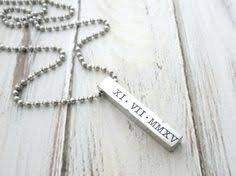 Custom Bar Necklace Personalized Mens Bar Necklace Custom Name Necklace Fathers