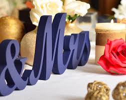 mr mrs sign for wedding table navy blue mrs mr wedding sign custom wooden wedding table decor