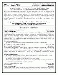 entry level construction laborer sample resume build your