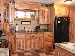 rustic hickory kitchen cabinets kitchens design