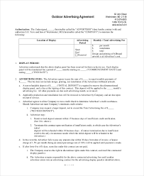 advertising contract template 7 free pdf word documents