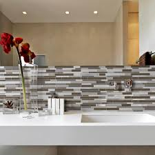 smart tiles milano argento 11 55 in w x 9 63 in h peel and stick