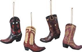 cowboy boot ornaments set of 4 premier barn wood