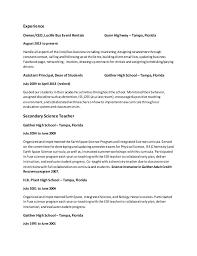 Bussiness Resume Marketta U0027s Business Resume Without Address