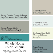 Color Combinations With Grey Whole House Scheme Home Pinterest House Color Schemes