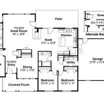 house plans with kitchen in front home architecture house plan open house plans with large kitchens