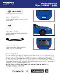 subaru rally decal vermont sportscar subaru contingency program