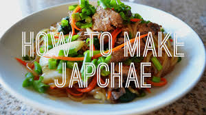 thanksgiving noodles recipe quick easy japchae noodles recipe authentic korean food youtube