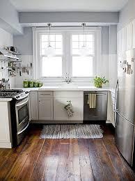 diy dark wooden floor white cabinet kitchen island napkin rug