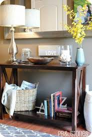 Decorating A Sofa Table Decorating Console Table Console Table Top