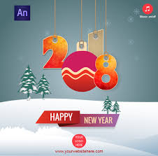 happy new year photo card happy new year 2018 greeting card by waqasali201 codecanyon