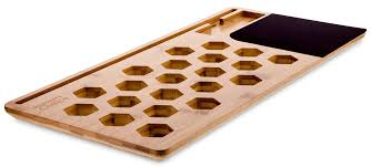 natural bamboo macbook lap desk or laptop vented cooling pad tablet stand