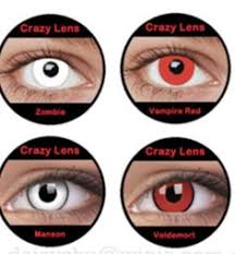 holloween contact lenses color white red black green blue