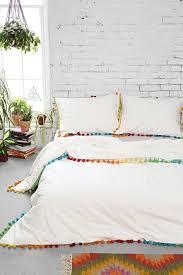 bedding beautiful magical thinking pom fringe duvet cover bedding