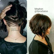 short stacked bob haircut shaved image result for short stacked bob with design undercut hairygirl