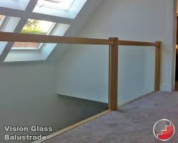 Glass Banisters For Stairs Oak Handrails Grooved For Glass Balustrade