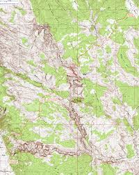 Oregon Topographic Map by Topographic Map Of The Boulder Mail Trail Grand Staircase