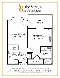 Apartment Floorplans Senior Apartment Floor Plans The Springs At Anna Maria