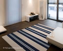 Modern Stripe Rug Awning Stripes Rug Is A Blue Tufted 100 Wool Modern