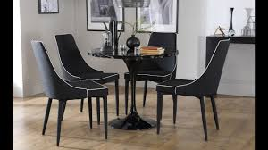 mila black round marble dining table by furniture choice youtube