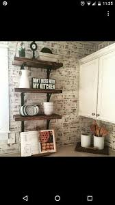 faux brick kitchen backsplash faux brick paneling painted with chalk paint then distressed with