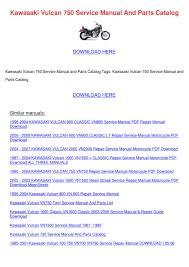 kawasaki vulcan 750 service manual and parts by olivianaranjo issuu