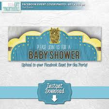 baby shower owl themed party matching theme facebook event cover