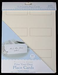 Design Your Own Place Cards 72 Print Your Own Ivory Placecards Placecards Place Card