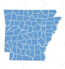 State Of Arkansas Map by State Map Of Arkansas By Counties Royalty Free Cliparts Vectors