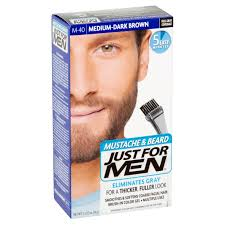 just for men mustache u0026 beard brush in color gel medium dark